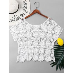 Short Sleeve Crochet Cover Up Top -