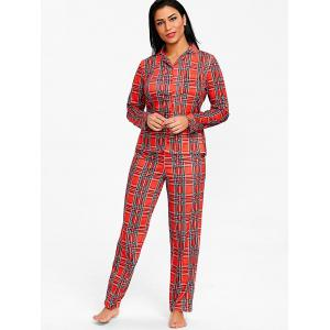 England Plaid Printed Sleep Suit -