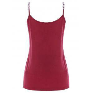 Applique Cami Strap Tank Top -