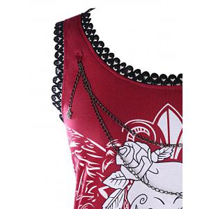 Skull Chains Embellished Tank Top -
