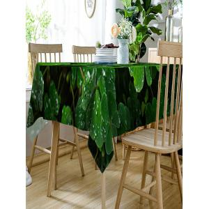 Trefoil with Waterdrop Print Fabric Waterproof Table Cloth -