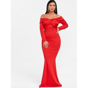 Twist Off The Shoulder trompette robe de bal -