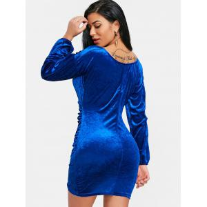 Velvet Bodycon Dress -