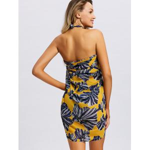 Convertible Halter Floral Beach Dress -