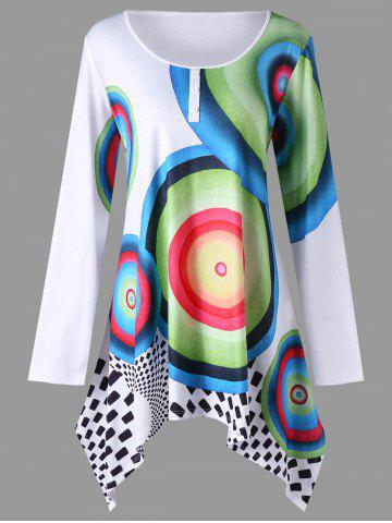 Buy Plus Size Graphic Crescent Hem Tunic T-shirt