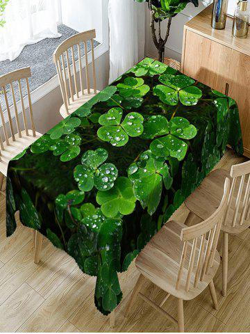 Fancy Trefoil with Waterdrop Print Fabric Waterproof Table Cloth