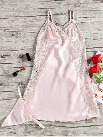 Outfit Lace Panel Nighty Slip Babydoll