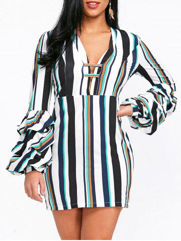 Outfit Striped Low Cut Bodycon Dress