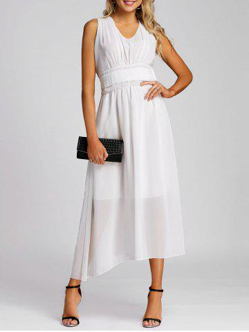 Shop Chiffon Midi A Line Dress