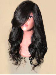Long Oblique Bang Loose Wave Synthetic Wig -