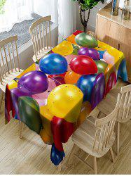 Balloon with Star Paillette Print Fabric Table Cloth -