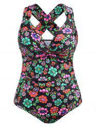 Plus Size Floral One Piece Swimsuit -