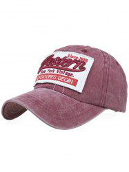 Letter Sentence Embroidery Washed Baseball Hat -