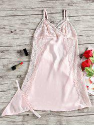 Lace Panel Nighty Slip Babydoll -