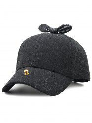 Unique Bowknot Embellished Glitter Baseball Hat -