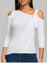 Skew Neck Open Shoulder Tee -