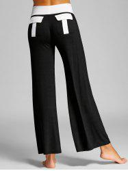 High Waisted Color Block Palazzo Pants -