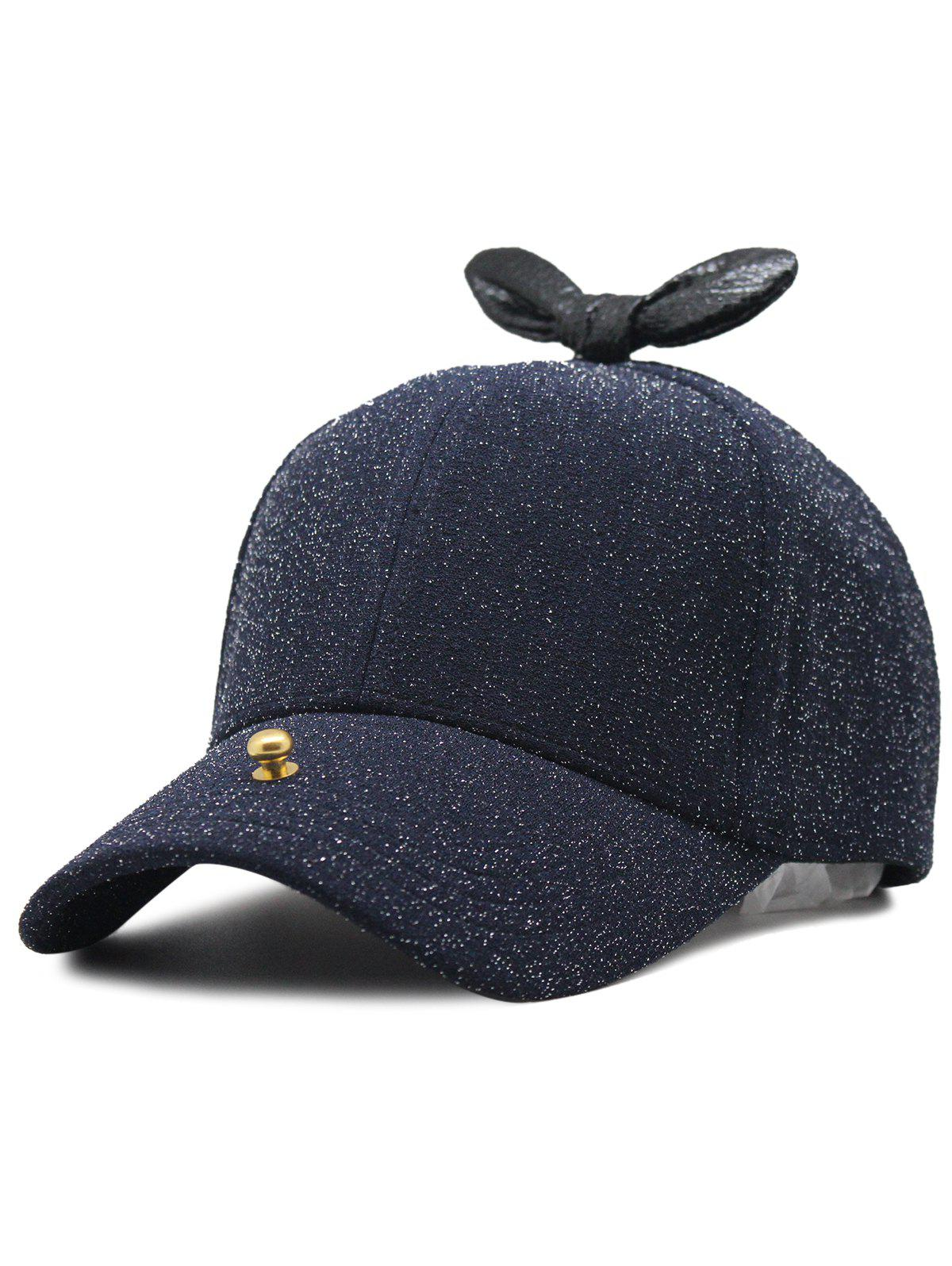 Cheap Unique Bowknot Embellished Glitter Baseball Hat