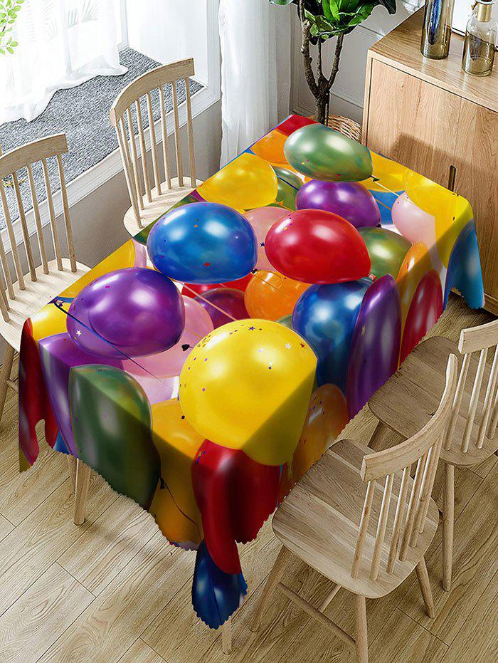 Chic Balloon with Star Paillette Print Fabric Table Cloth
