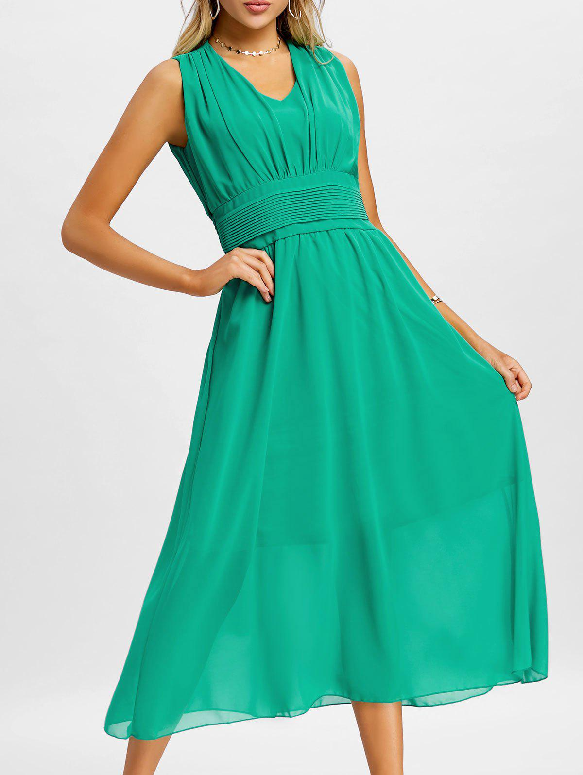 Shops Chiffon Midi A Line Dress