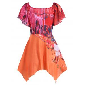 Oil Painting Empire Waist Blouse -
