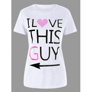 Graphic Print Couple Tee -