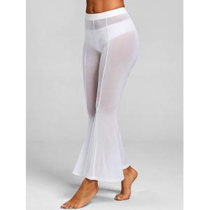 Sheer Maxi Mesh Cover-up Pants with Split -