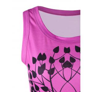 Tree Pattern Scoop Neck Tank Top -