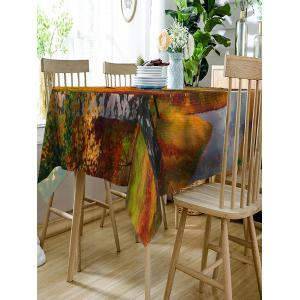 Maple Forest Road Print Dining Table Cloth -