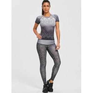 Legging Collant Performance à Imprimé Brocart -