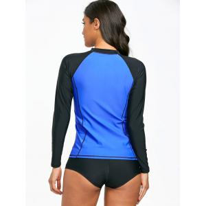 High Neck Two Tone Surf Swim Top -