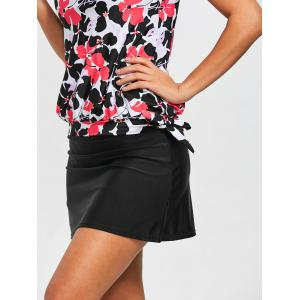 Floral Skirted Blouson Tankini Set -