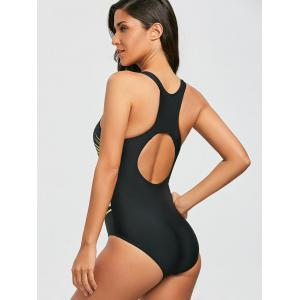 One Piece Cut Out Racerback Купальник -