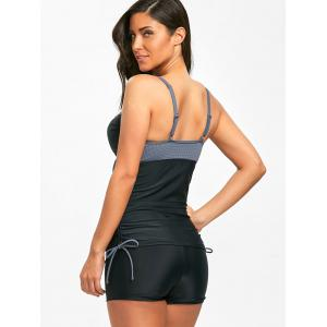 Boyshort Two Tone Molded Tankini Set -