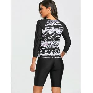 Printed Long Sleeve Surf Swimsuit -