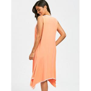 Sheer Scallop Trim Asymmetric Cover Up -