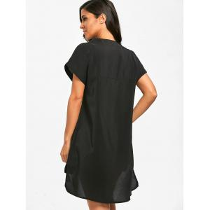 Plunge Asymmetric Cover Up Dress -