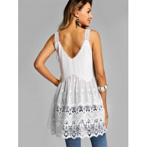 Lace Panel Summer Tank Top -