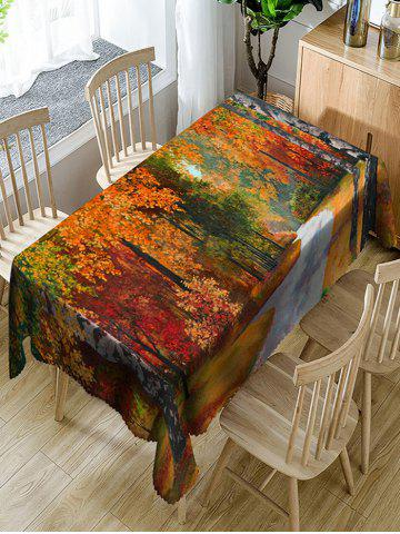 Latest Maple Forest Road Print Dining Table Cloth