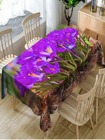 Sale Waterproof Flowers and Grass Print Fabric Table Cloth