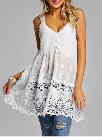 Fashion Lace Panel Summer Tank Top