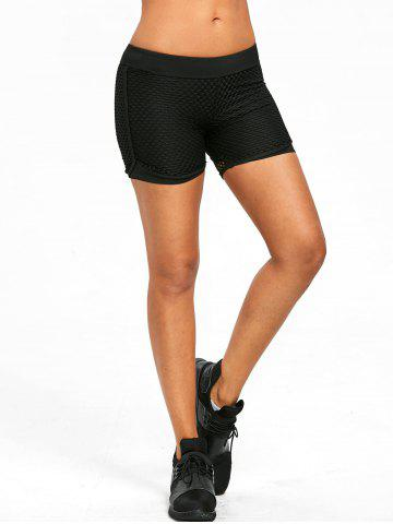 Breathable Dry Fast Sport Shorts - BLACK - S