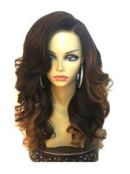 Long Side Parting Loose Wave Colormix Synthetic Wig -