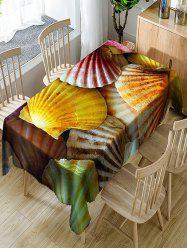 Scallop Shell Print Waterproof Dining Table Cloth -