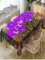 Waterproof Flowers and Grass Print Fabric Table Cloth -