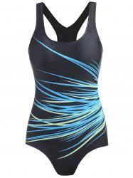 One Piece Cut Out Racerback Swimsuit -