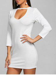 Keyhole Mini Bodycon Party Dress -
