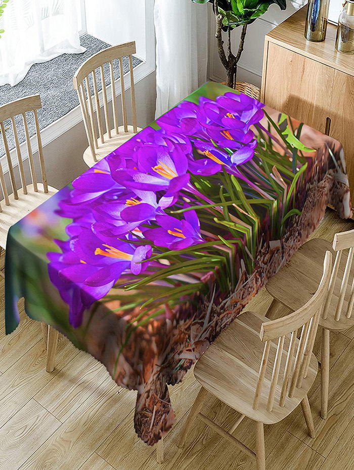 Shops Waterproof Flowers and Grass Print Fabric Table Cloth