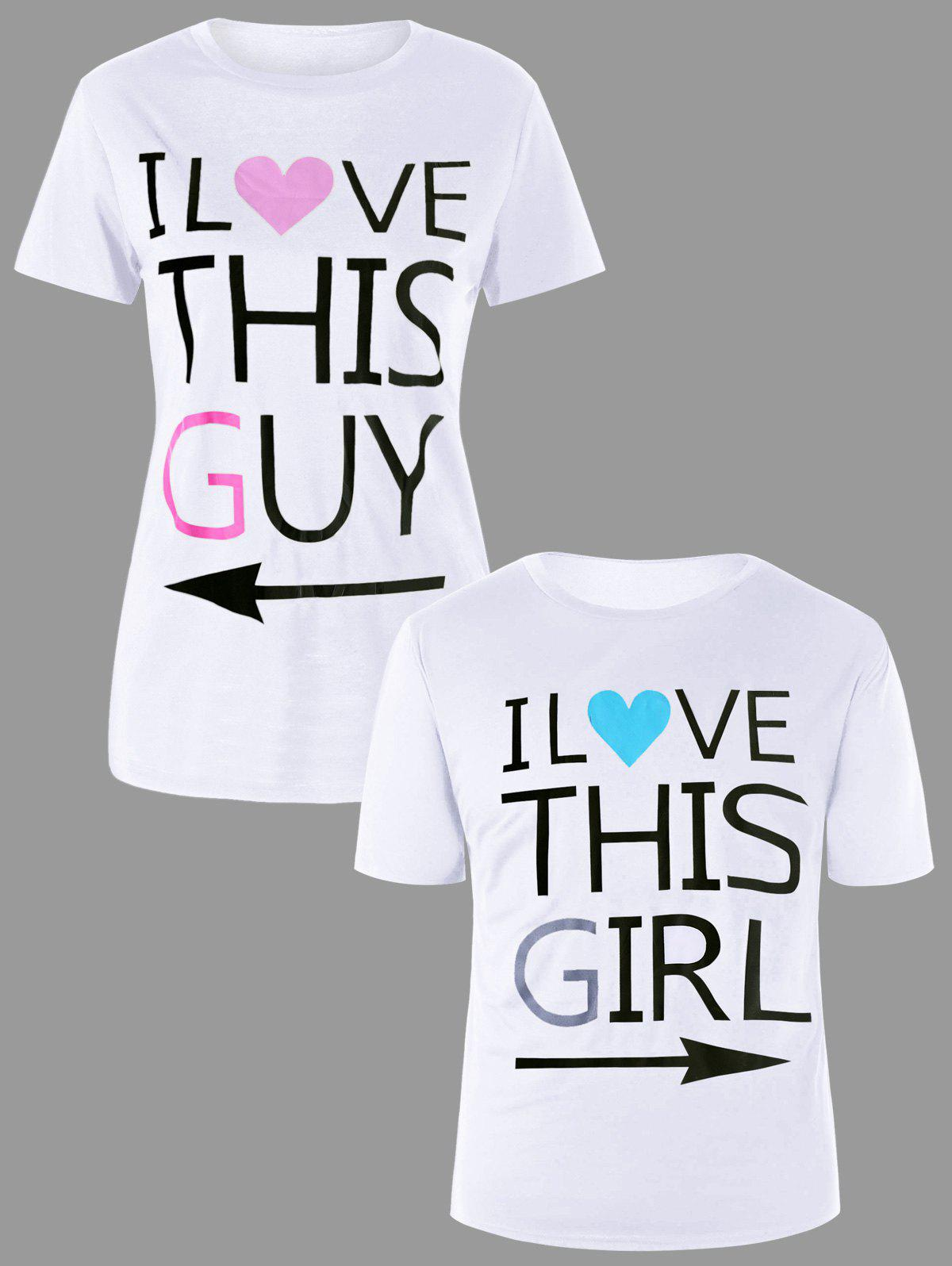 Hot Graphic Print Couple Tee