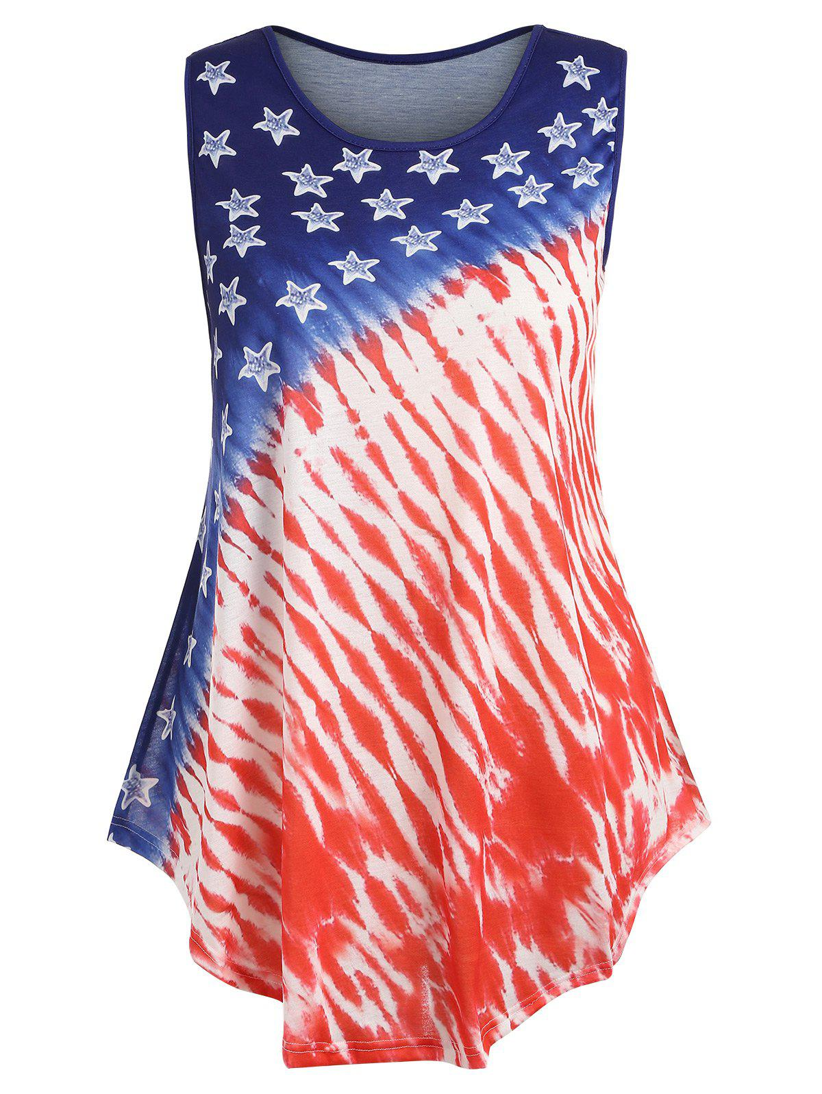 8a4f2066ad4 66% OFF   2019 Plus Size Patriotic American Flag Tank Top